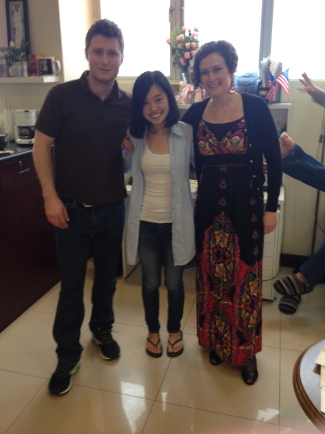 Aaron (Beijing duck expert) and Jessica (Communications teacher).
