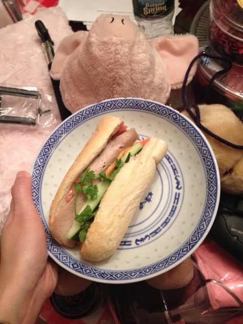 Banh mi, what I had almost three years ago when I came back from Shanghai last time!