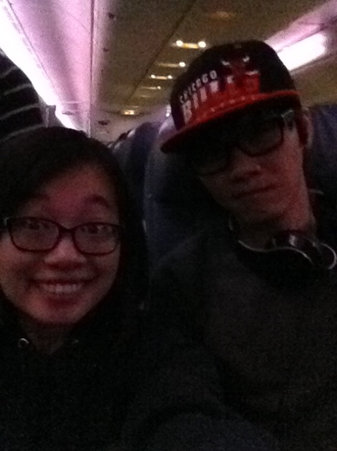 Plane selfie with Duy.