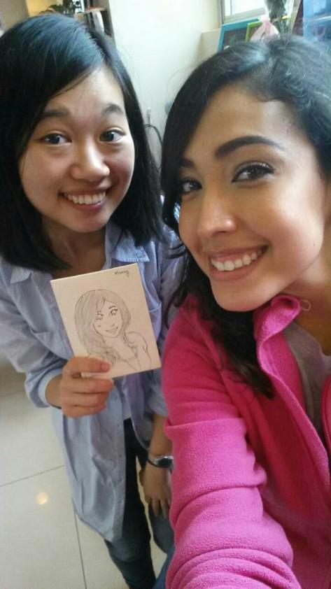 With Mercy, selfie queen! We ate Korean BBQ together. :D